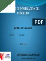 Presentación Dosificación Del Concreto - Javier Edgar Dueñas Arce