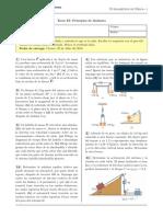 Tarea IX - Principios de Dinámica