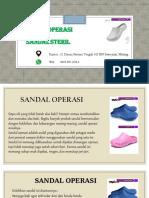 Sepatu Sandal Perawat Fast Respon Call, Sms, WA