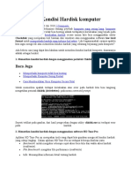 Memeriksa Kondisi Hardisk Komputer