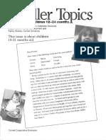 toddler topics 18-21 mths
