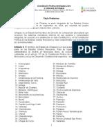Constitución Politica Del Estado Libre y Soberano de Chiapas