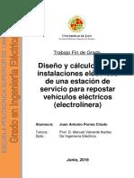 Tesis On_ Diseño y Calculo de Las Instalaciones Electricas de Una Estacion de Servicio Para Repostar Vehiculos Electricos (Electrolineras)