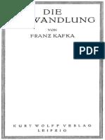 Die Verwandlung Kafka Franz