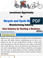 Investment Opportunity in Bicycle and Cycle Rickshaw Manufacturing Industry