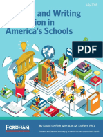Reading and Writing Instruction in America's Schools