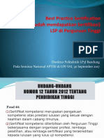 Best Practice Sertification LSP