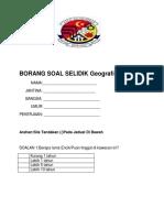Borang Soal Selidik Geografi Pt3 2018