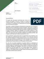 Carta de Pere Aragonès a la ministra Montero