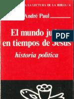 El Mundo Judio en Tiempos de Jesus Paul Andre