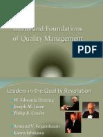 Lecture in QUALMAN Quality Gurus