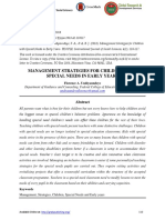 Management Strategies for Children With Special Needs in Early Years