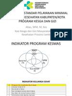 Kasi Indikator Dan Spm Program Kesga Dan Gizi Masyarakat