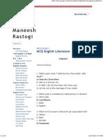 MCQ English Literature - Maneesh Rastogi