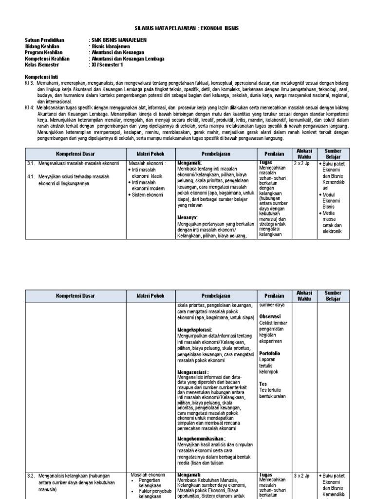 Materi Ekonomi Bisnis Kelas 10 Smk K13 Semester 2 - Guru ...