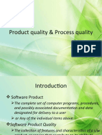 Product Quality & Process Quality - Introduction