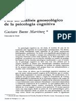 1985 - Gustavo Bueno. Para Un Análisis Gnoseológico de La Psicología Cognitiva