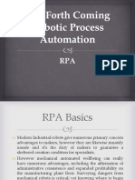 The Forth Coming Robotic Process Automation Ppt