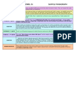 Essay Structure Level 3 Sample Para