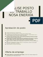 Análise posto de Administración de NOSA ENERXÍA
