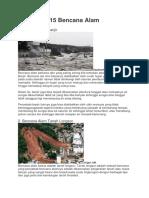 15 Bencana Alam