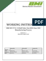 BMI-WI-5711-14 Ball Valve 2in-900# Manufacturing Process Rev.0