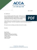 information about program letter