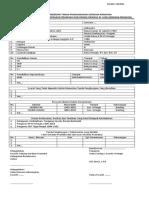 Contoh Formulir Pengajuan TPOD