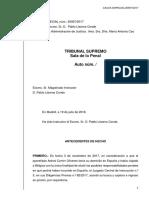 Auto Rechazo Entrega Puigdemont y Retirada Euroórdenes