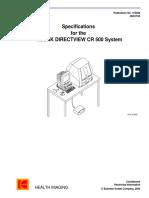 Kodak DirectView CR 500 - Preventive Maintenance