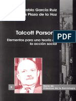 Talcott Parsons. Hacia Una Teoría de La Acción Social