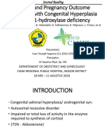 Fertility and Pregnancy Outcome in Women With Congenital Adrenal Hyperplasia Due to 21 HO Deficiency