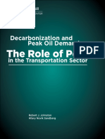 Decarbonization and Peak Oil Demand