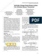Analysis of 3rd Order Charge-Pump PLL for Wireless Sensor Transceiver
