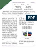 Wind Turbine Output Estimation using Windographer Software