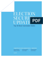 Election Security Update - U.S. House Democrats - Committee on House Administration