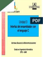 Unidad 3 Sistemas Basados en Microprocesadores SBM UAM