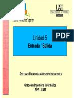 Unidad 5 Sistemas Basados en Microprocesadores SBM UAM