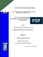 Aditivos Degradables de Polipropileno en Pañales Desechable