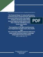 Preliminary CMIR Report - Beth Israel Lahey Health