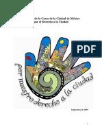 Carta do México - direitos da cidade