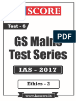 GS Score 2017 Mains Test 6 With Solutions - Ethics-2