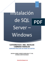 Instalación de SQL Server Windows - Nicolas Hidalgo