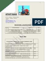 ATHIT NAIK Resume