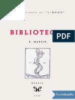 Bibliotecas - Enriqueta Martin