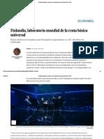 Finlandia, Laboratorio Mundial de La Renta Básica Universal _ Economía _ EL PAÍS