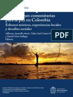 Instituciones comunitarias para la paz en Colombia. Esbozos teóricos, experiencias locales y desafíos sociales