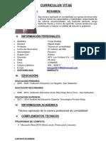 Curriculum Vitae Miguel