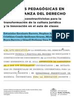 Prácticas pedagógicas en la enseñanza del derecho. Experiencias constructivistas para la transformación de la cultura jurídica y la innovación en el aula de clases