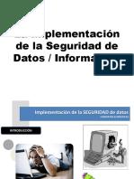 3. Implementación Seguridad de Datos